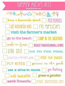 Summer Bucket List Printable! - Simply Kierste Design Co
