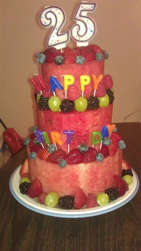 Birthday Cake Made Of Fruit!  Party Pinterest