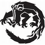 Hunter Monster Tattoo Stencil Drawing Monsters Godzilla