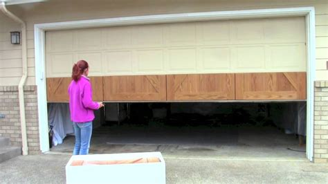 garage door refacing how to install your garageskins realwood overlay system on