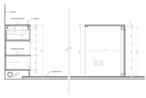kitchen cabinet section 영국 빅토리아스타일 홈스토어 haptic architects archive 2747