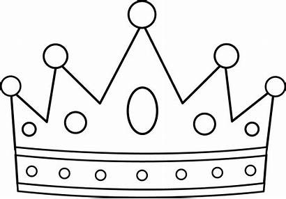 Coloring King Crown Queen Pages Outline Royal