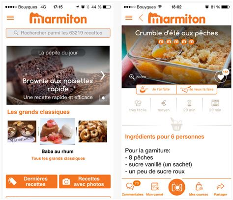 recettes de cuisine marmiton dossier applications iphone et l 39 de la cuisine