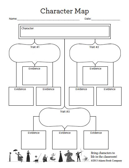 free worksheets for teaching characterization character map printable worksheet school year 2016 2017