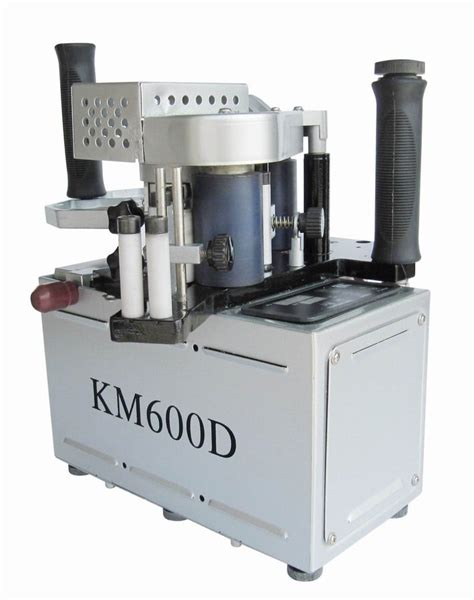 km double  glue portable edge banding machine manual hand held edge bander speed
