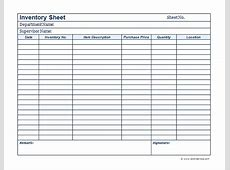 Business Inventory Template Free Printable Templates