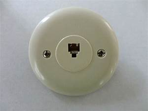 5pc Telephone Wall Plate Jack Round Circular Rj11