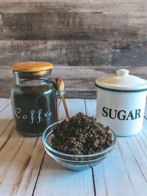 Mix well and pour into a storage jar. Easy DIY Coconut Oil & Coffee Sugar Scrub Recipe