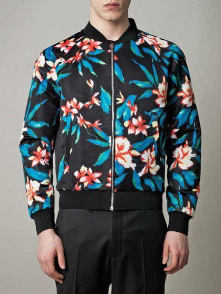 balenciaga floral print satin jacket  floral  men lyst