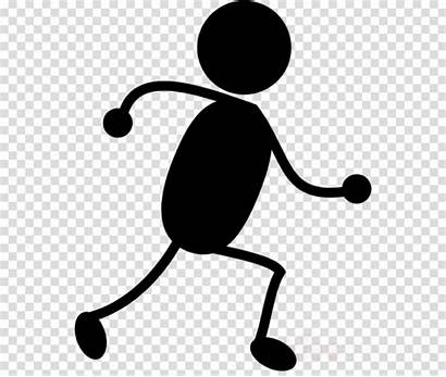 Stick Running Clipart Person Clip Transparent Cartoon