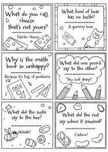 printable lunch box notes  jokes  printable