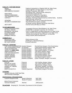 38 best arts resume portfolio list images on pinterest With film resume template