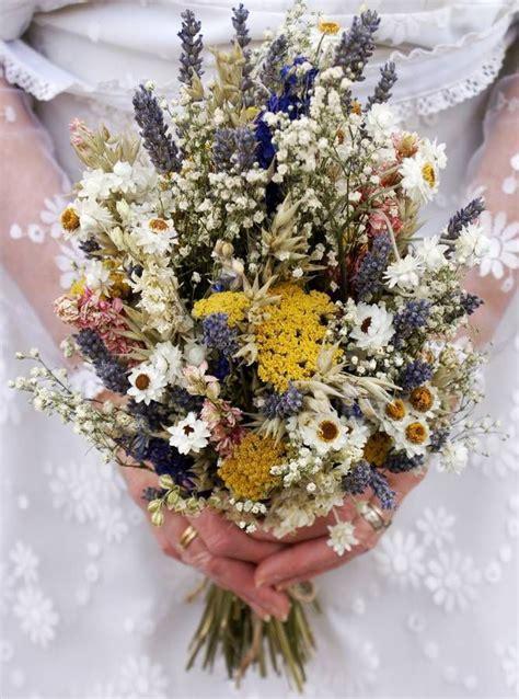 festival meadow dried flower wedding bouquet wedding