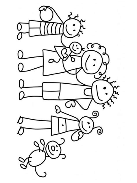 family coloring pages   print family coloring