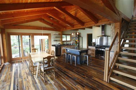Home Interior Framed by Timber Frame Kitchens New Energy Works