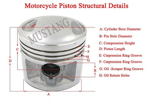 Custom Quality Aluminum Alloy Engine Piston For Cg125