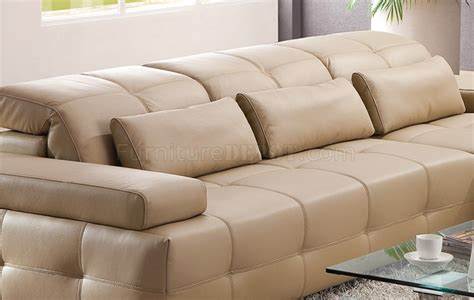 light brown leather sectional s812 a sectional sofa in light brown leather by pantek