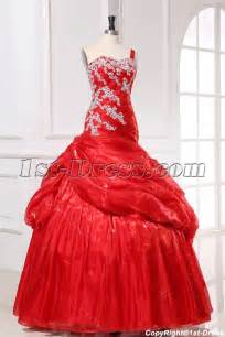 modest wedding dresses mermaid organza pretty quinceanera dress with one shoulder
