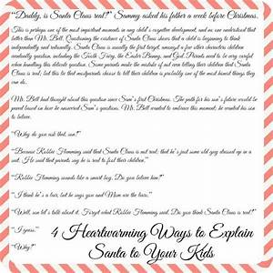 1000 ideas about letter explaining santa on pinterest With authentic santa letter
