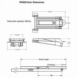 12 Ton  24 000 Lb  Dump Trailer Hydraulic Scissor Hoist