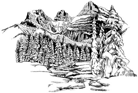 landscape coloring pages    print