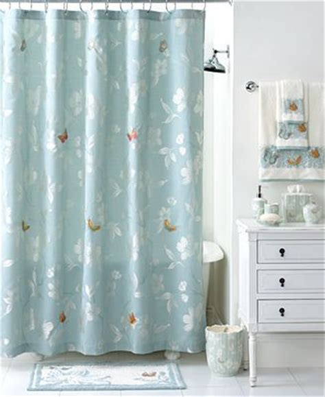 martha stewart shower curtains martha stewart collection mariposa shower curtain