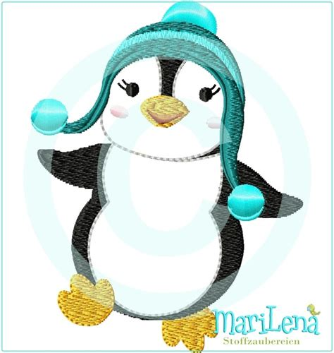 Penguin Applique Penguin 3 Appliqu 233 4x4 Quot Marilena Stoffzaubereien