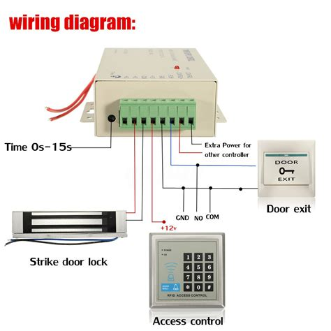 rfid access control electric door lock magnetic id password safty entry system ebay
