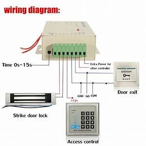 Rfid Access Control Electric Door Lock Magnetic Id Password Safty Entry System