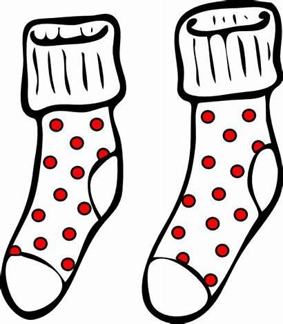 Socks Clip Clipart Spotty Winter Shoes Vector