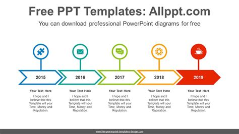 chevron highlighted signpost powerpoint diagram template
