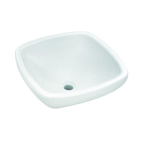 glacier bay square vitreous china vessel sink in white 13