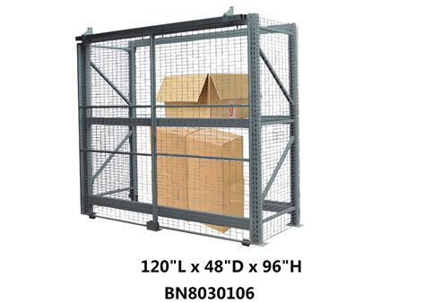 heavy duty steel pallet rack security cage systems   high sliding door type