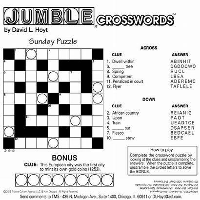 Jumble Crosswords Sunday Sample Square