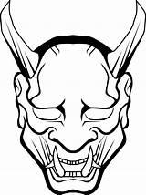Demon Coloring Slayer Kimetsu Yaiba Clipart sketch template