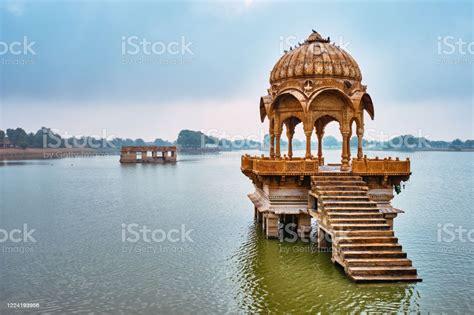 Indian Landmark Gadi Sagar In Rajasthan Stock Photo ...