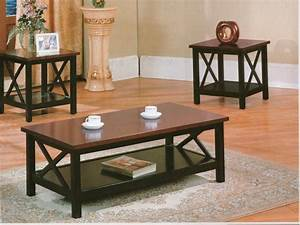 Roundhill furniture for Cherry coffee table and end tables