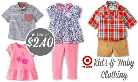 Target Kids & Baby Clothing As Low As $.