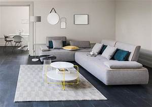 Deco Moderne Salon : un salon gris pour une d co chic et intemporelle elle d coration ~ Teatrodelosmanantiales.com Idées de Décoration