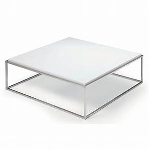 Table Basse 100x100 : table basse carr e ronde ou rectangulaire au meilleur prix table basse carr e mimi xl blanc ~ Teatrodelosmanantiales.com Idées de Décoration