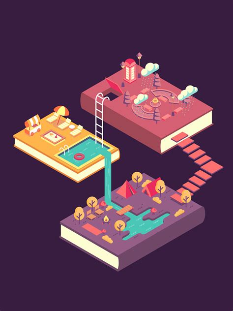 dazzling examples  isometric designs web graphic