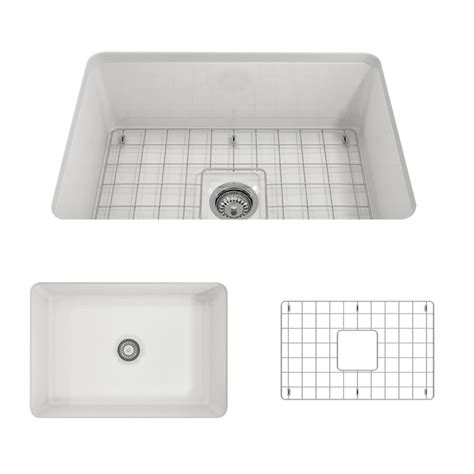 sink for kitchen bocchi sotto undermount fireclay 27 in single bowl 6929