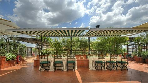 cupola roof hotel diana roma roof garden sito ufficiale