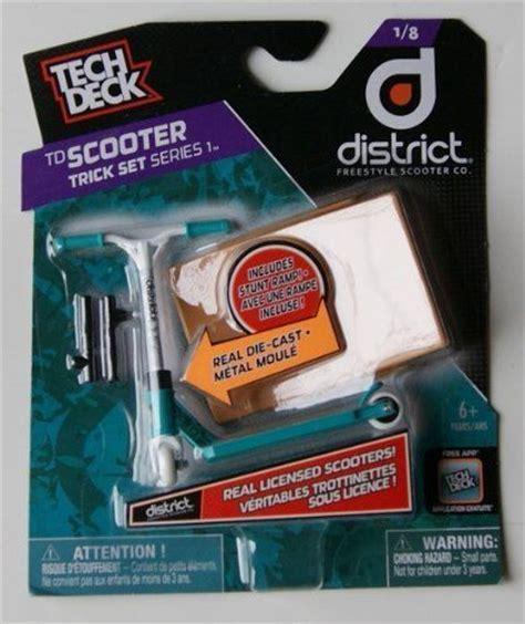 Tech Deck Scooter by Tech Dech Scooter Trick Set Series 1 Finger Scooter