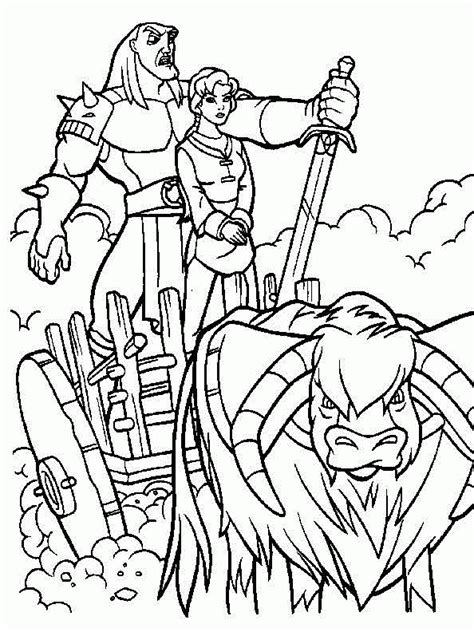 quest  camelot coloring pages coloring home