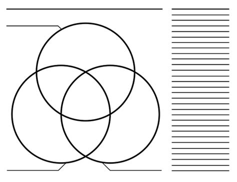 Three Bubble Graphic Organizer Template by 3 Circle Venn Diagram Templates Blank Printable Graphic