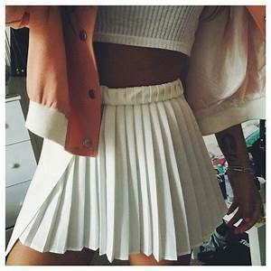 white pleated skirt tumblr - Google Search   FVSHION ...