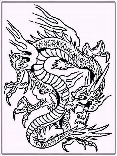 Dragon Coloring Chinese Pages Sheets Dragons Fire