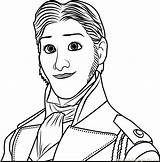 Coloring Prince Hans Frozen Pages Drawing Cartoon Coloringpages101 Pdf sketch template