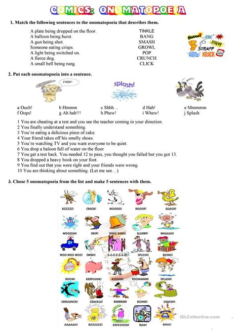 worksheet onomatopoeia worksheet grass fedjp worksheet